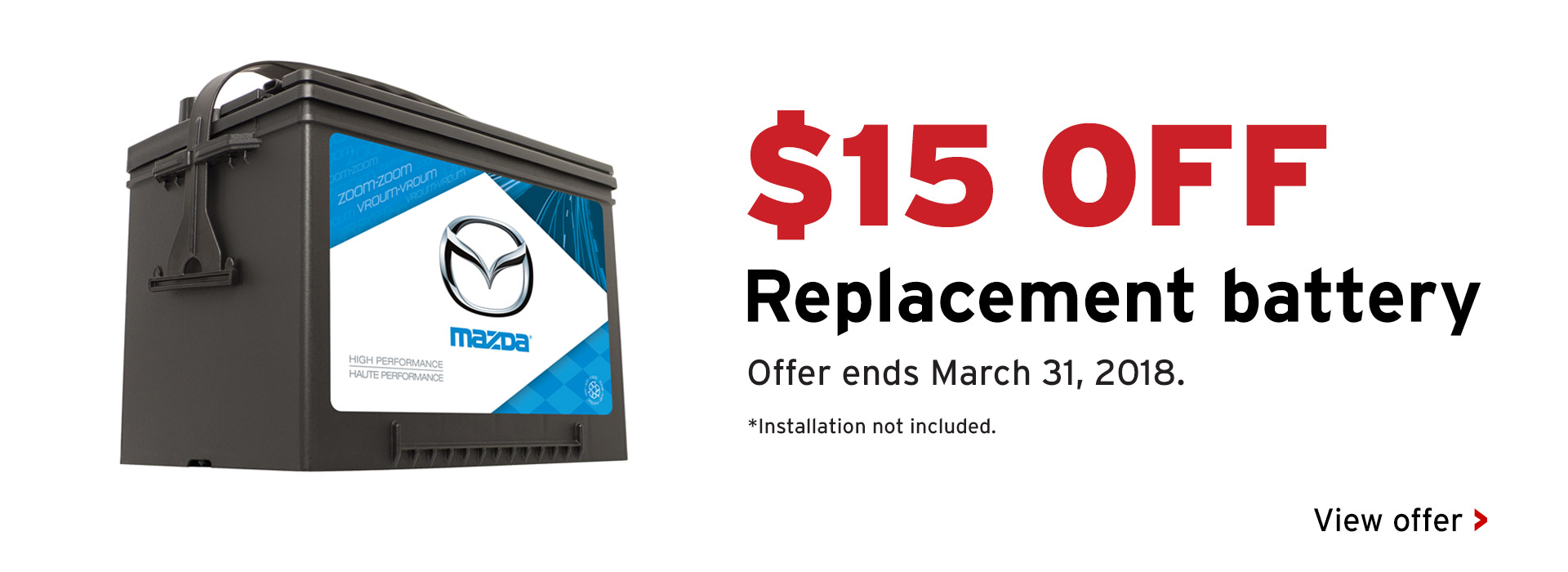 15% Off replacement battery
